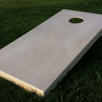 Cornhole board front view