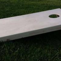 Cornhole board side view