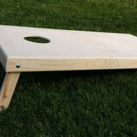 Cornhole board side view