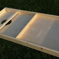 Cornhole board folded