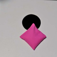 Single Pink Cornhole Bag