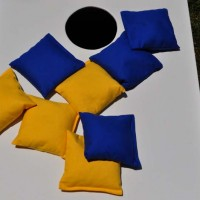 Royal Blue and Yellow Corn Hole Bags