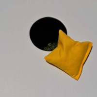 Single Yellow Cornhole Bag
