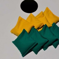 Set of Forest Green and Yellow Cornhole Bags