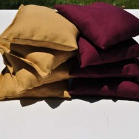 Athletic Gold and Burgundy Weatherproof Cornhole Bags