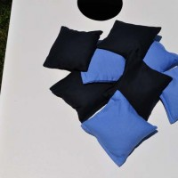 Sky Blue and Navy Blue Weather Proof Cornhole Bags