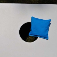 Single Sky Blue All Weather Corn hole Bag
