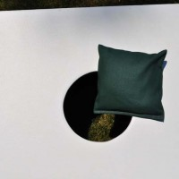 Single Forest Green Weather Proof Cornhole Bag